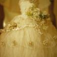 Fさん作、ちょっぴりゴージャスになった布花のドレス